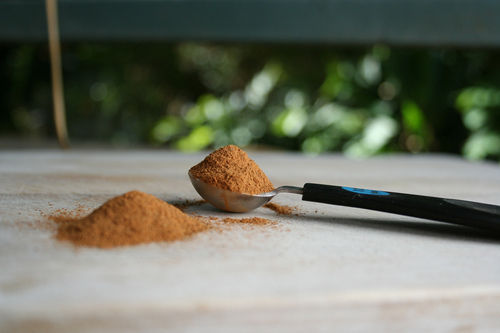 Spoon full of cinnamon