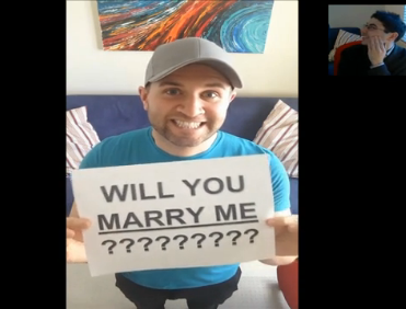 dave michael wordless marriage proposal