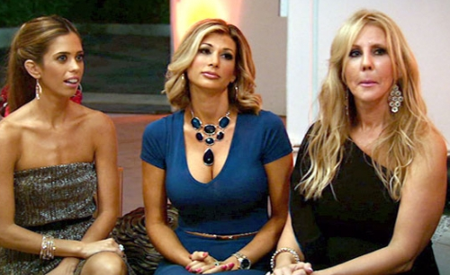 Lydia McLaughlin, Alexis Bellino, and Vicki Gunvalson