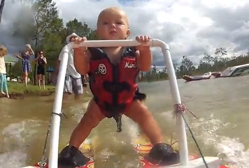baby waterski
