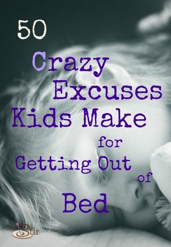 excuses kids use to delay bedtime