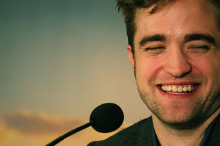 robert pattinson laughing