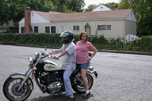 pregnant motorcycle