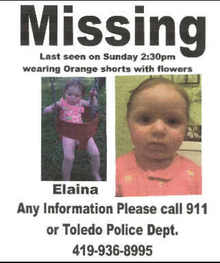 missing toddler elaina steinfurth