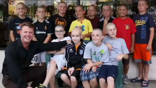kids shaved heads