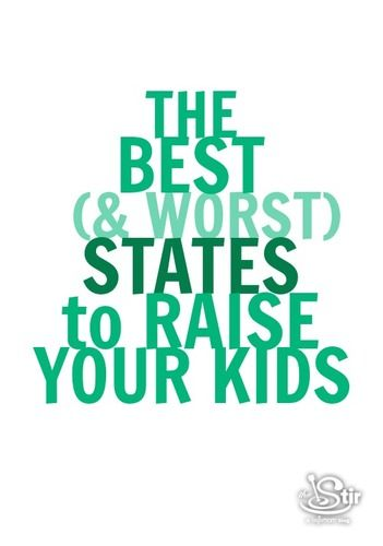 best worst states to raise kids