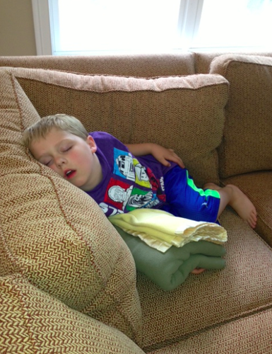 kid worn out from camp