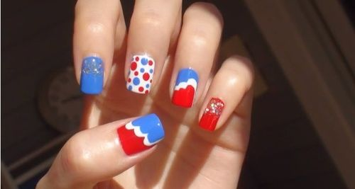 4th July nail art