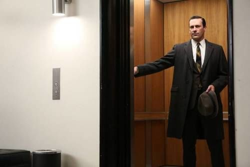 mad men don draper elevator