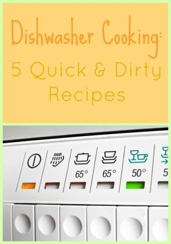 foods you can cook in your dishwasher