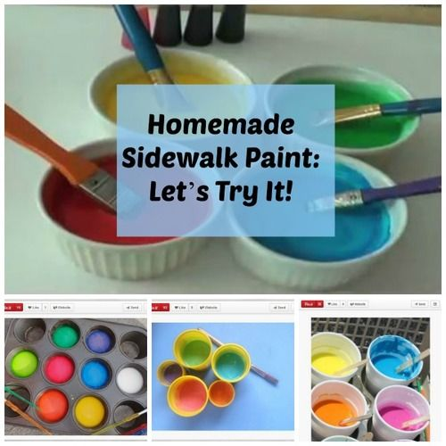 sidewalk chalk DIY crafts
