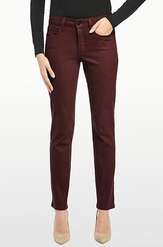 Go for muted color these nydj quot sheri skinny quot coated denim jeans