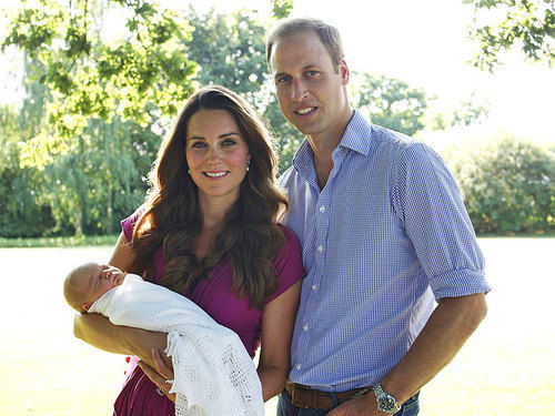 Kate Middleton Prince William Prince George royal portrait