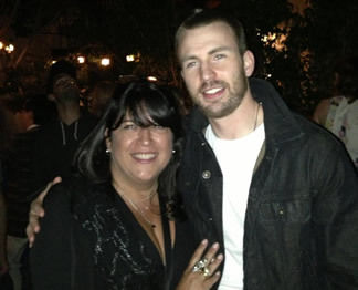 Chris Evans and E.L. James