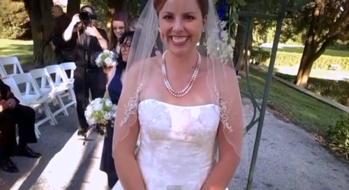 bride from groom's POV camera
