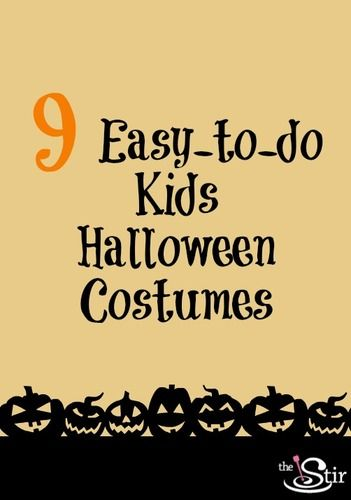 9 simple kids halloween costumes