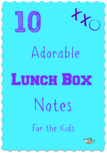 10 lunch box note ideas