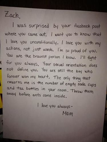 mom's letter to gay son