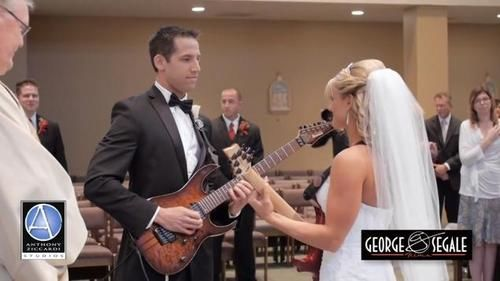 jordan andrea bride groom guitar entrance