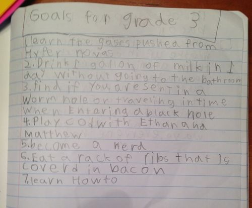 goals for third grade