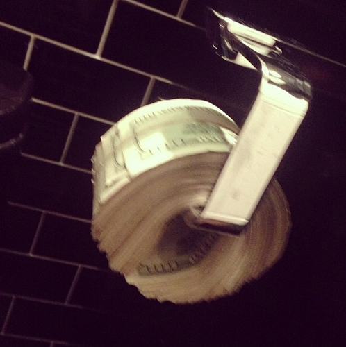 cash toilet paper roll
