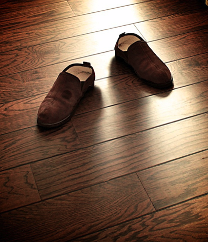 shoes on floor