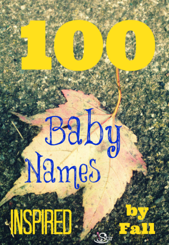 100 best fall baby names