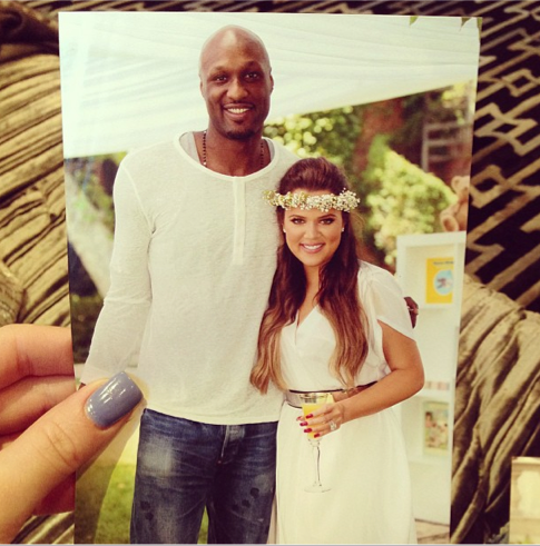 khloe kardashian and lamar odom photo