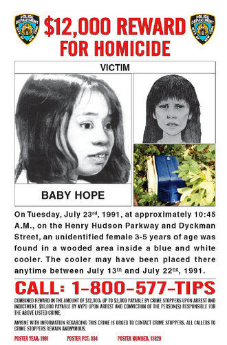 Baby Hope police poster