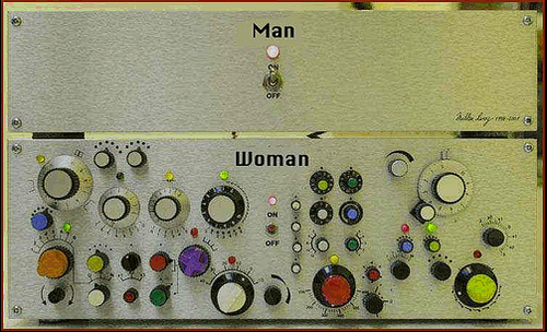 man woman machine
