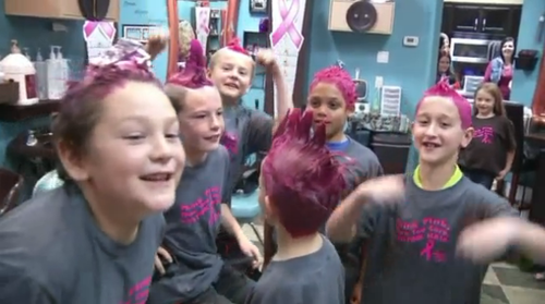 8-year-olds pink hair
