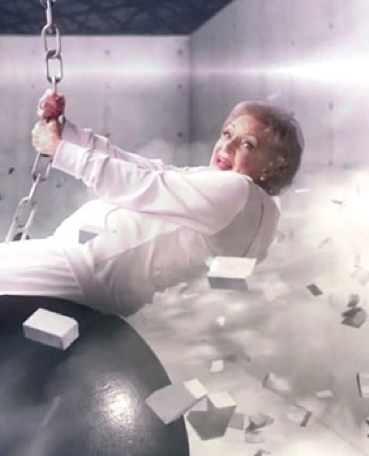 Betty White Wrecking Ball