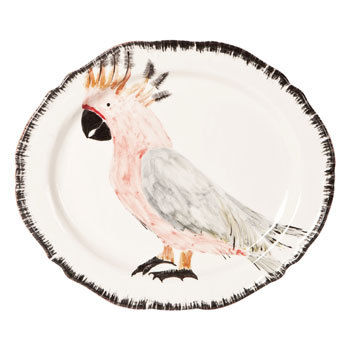 cockatoo platter zara home