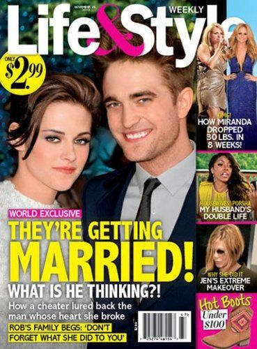 robert pattinson kristen stewart getting married