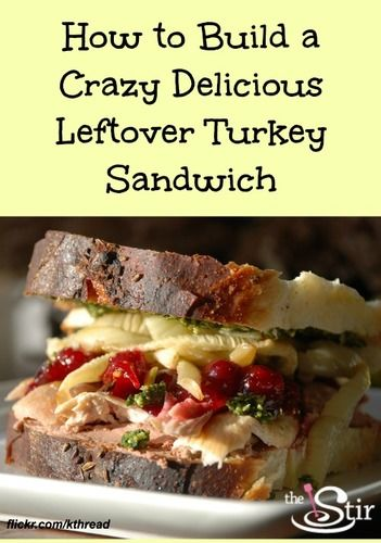 Thanksgiving turkey sandwich recipe uses all the best for How to make leftover turkey sandwich