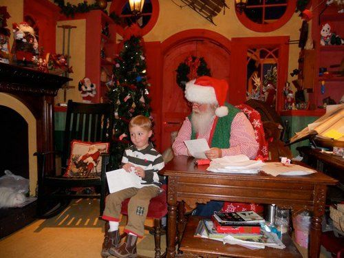 little boy with santa