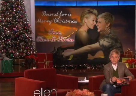 bound 2 christmas card ellen