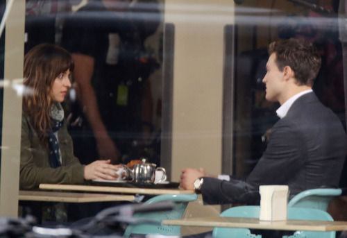 50 Shades of Grey filming Dakota Johnson and Jamie Dornan