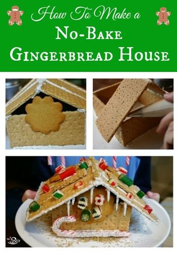 how to make a no-bake gingerbread house