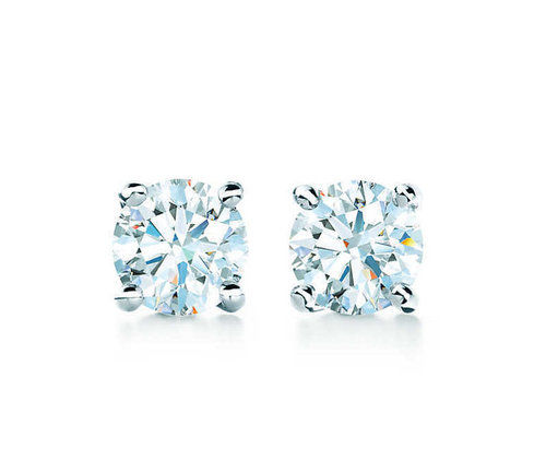 tiffany earrings solitaire diamond