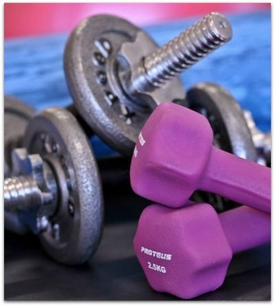 close up of dumbbells at the gym