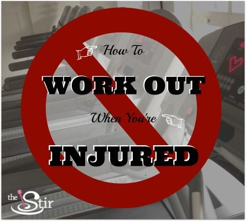 image of treadmills with text How To Work Out When You're Injured