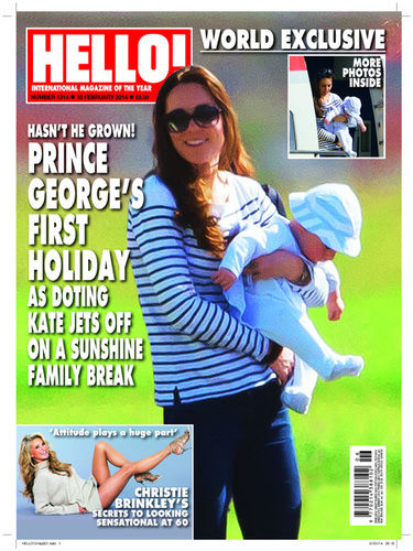 hello magazine prince george kate middleton