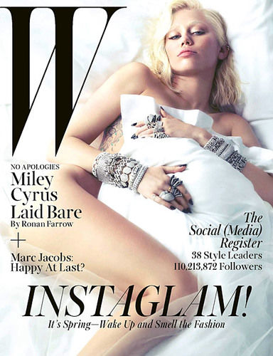 miley cyrus cover of W magazine march 2014