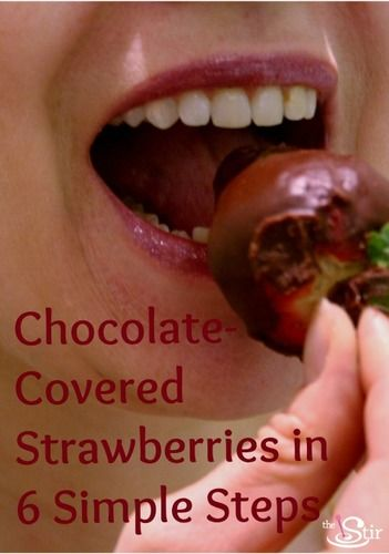 chocolate covered strawberries how-to
