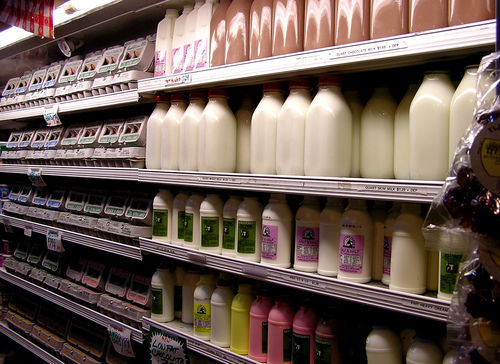 milk aisle grocery