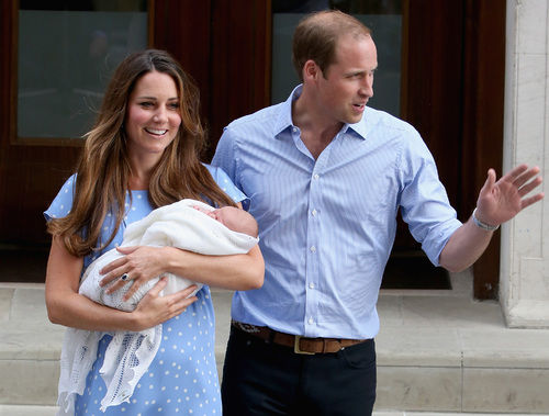 kate middleton prince william with prince george st. mary's