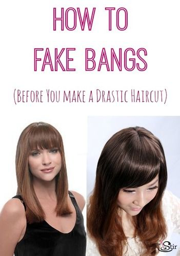 how to fake bangs