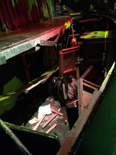 stage collapse sevite high school