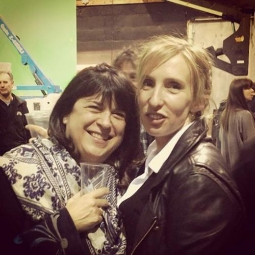 sam taylor-johnson with E.L. James